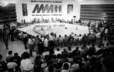 Reunión de Consulta Popular en San José del Cabo, presedido por miguel de la Madrid