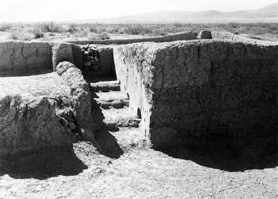 Vista de edificio prehispánico