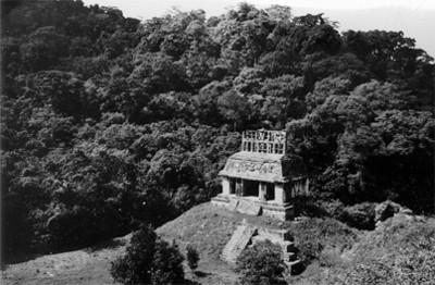 Templo del Sol, vista en picada