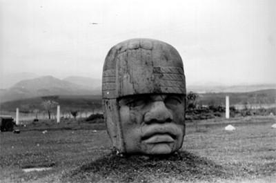 Vista de la cabeza colosal núm. 4
