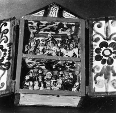 Figurillas de un nacimiento, artesanías