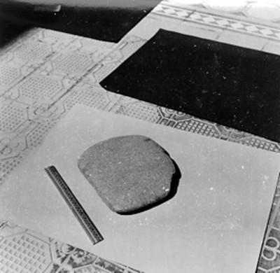 Piedra a contraescala, registro de pieza arqueológica