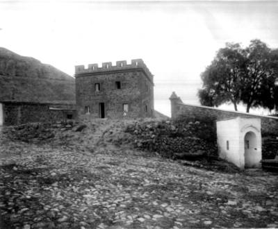 Vista de las instalaciones del Antiguo Museo a un costado de la Pirámide del Sol