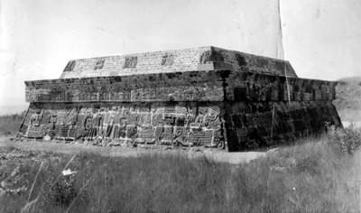 Ángulo noreste de la Pirámide de la Serpiente Emplumada