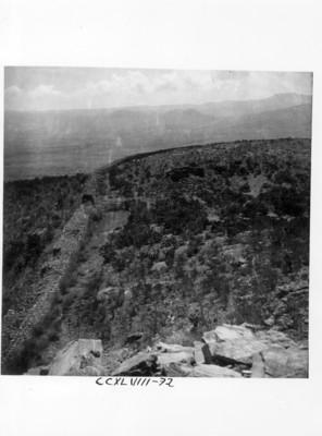 Vista de acantilado en la Quemada