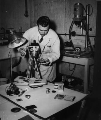 Laboratorio fotográfico del Museo Nacional de Antropología