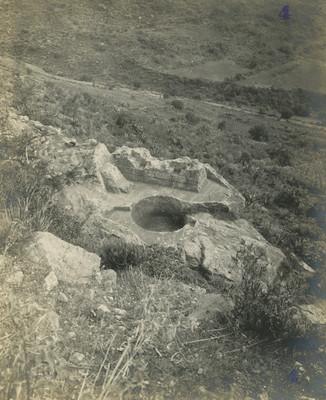 Baños termales de Netzahualcoyotl, vista en picada