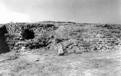 Escalera norte de estructura piramidal en Ixtepete