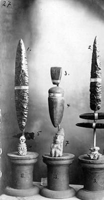 Piezas de lítica y cerámica procedentes de Ixtlán del Río