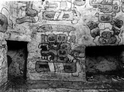 Pintura mural de la parte lateral derecha de la tumba N° 104