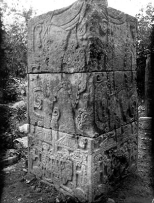Pilar del Templo de los Guerreros, detalle
