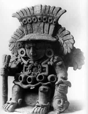 Figurilla cerámica de Xipe Totec