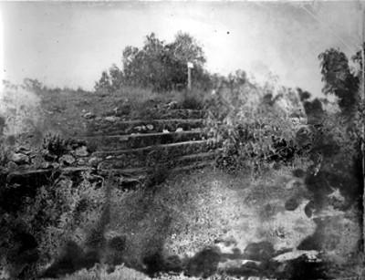 Escalinata y cala de excavación, vista parcial