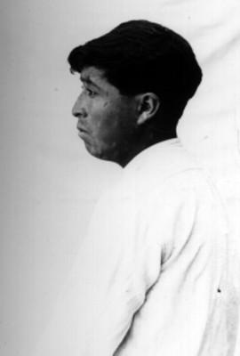 Hombre nahua perfil, retrato