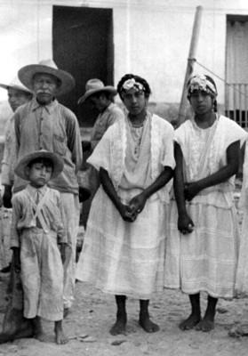 Familia totonaca, retrato