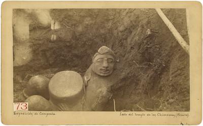 Templo de Las Chimeneas, idolo