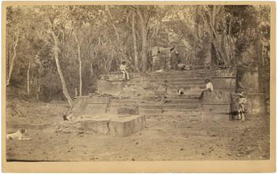 Templo de los Chichimecas, antes de su desmonte