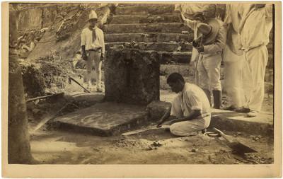 Los Chichimecas, trabajos de limpieza