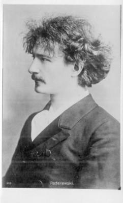 """""""Paderewski"""", pianista, compositor y diplomático polaco, retrato"""