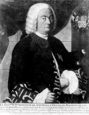 """""""Agustin de Ahumada y Villalón"""", Virrey de la Nueva España, retrato, reproducción"""