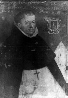 """Don Fray García Guerra"", pintura al óleo, reproducción"