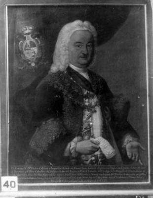 """""""Don Pedro de Cebrian y Agustin"""", virrey, reproducción"""