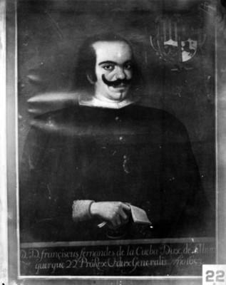 """""""Francisco Fernández de la Cueva, Duque de Alburquerque"""", virrey, reproducción"""