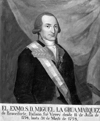 """""""Miguel [de] la Grúa, Marqués de Branciforte"""", pintura,"""