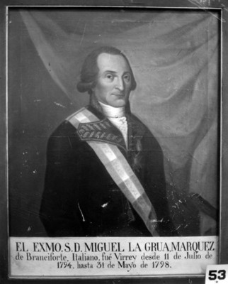 """""""Miguel [de] la Grúa, Marqués de Branciforte"""", pintura, reproducción"""