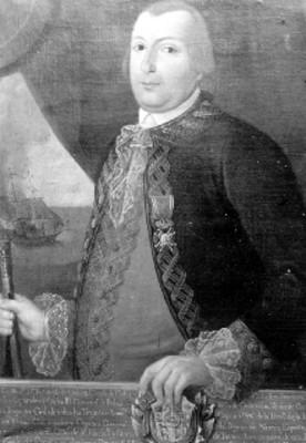 Bernardo de Gálvez, virrey, pintura, reproducción