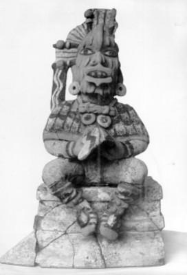 Escultura antropomorfa policroma