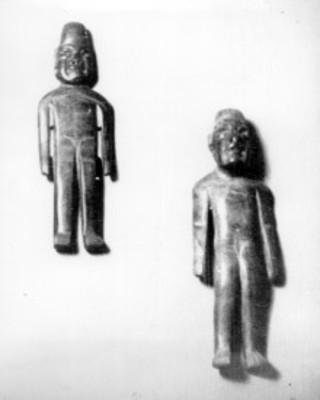Figuras Olmecas talladas en piedra verde, detalle
