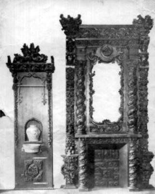 Muebles de alcoba y enseres del siglo XVIII, piezas exhibidas en el Antiguo Museo Nacional