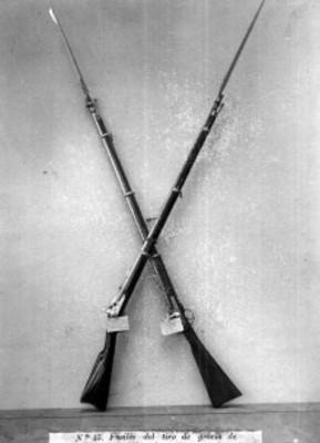 Fusiles del tiro de gracia de Maximiliano y Miramón