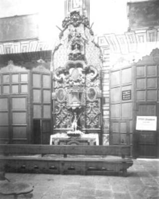 Retablo de San Rafael, Iglesia de Santa Rosa de Viterbo, vista frontal