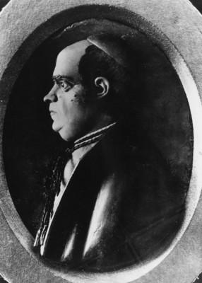 José María Morelos y Pavón, relieve escultórico de perfil