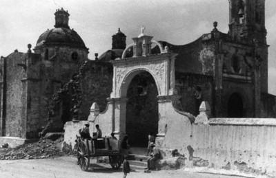 """Templo en Tulpetlac"", exterior, vista general"
