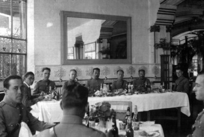 Banquete ofrecido al General Joaquín Amaro, retrato de grupo