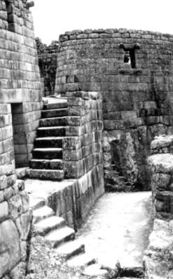 """""""Torreón de Machu Picchu"""", Templo del Sol"""