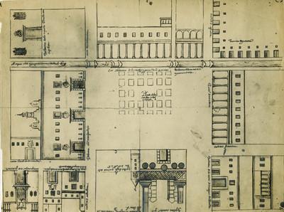 Mapa de la Plaza Mayor de la Ciudad de México
