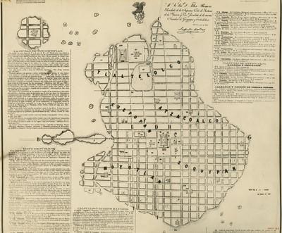 Plano de Tlatelolco y alrededores, reprografía