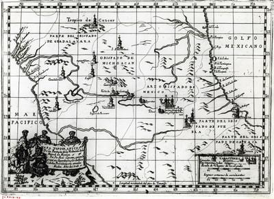 Mapa topográfico de la provincia de la visitación de la Merced de México, reprografía