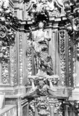 Convento de Tepotzotlán, detalle de una imagen religiosa