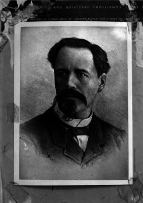 Antonio García Cubas, litografía, retrato