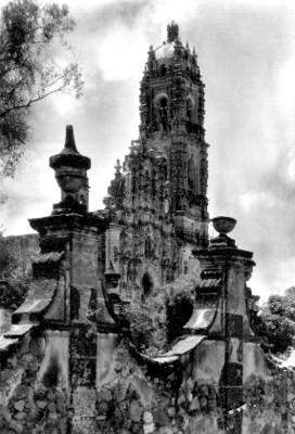 Campanario de la iglesia de San Francisco Javier, detalle
