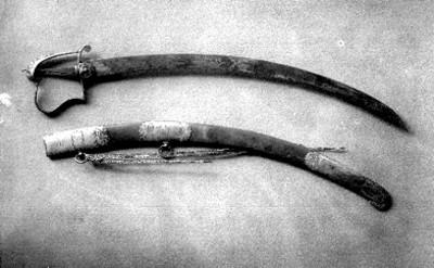 Espada y funda que perteneció a Anastacio Bustamante