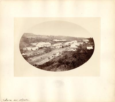 Vista de la estación de ferrocarril de Boca de Monte