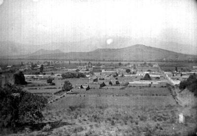 Panorámica del pueblo de Cholula