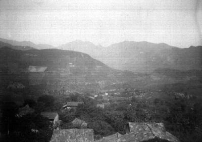 """Vista la Villa Romero Rubio, """"parte poniente de la población"""""""