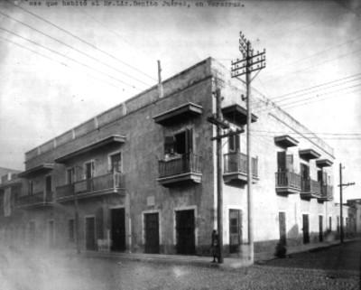 Casa que habitó el Sr. Benito Juárez en Veracrúz